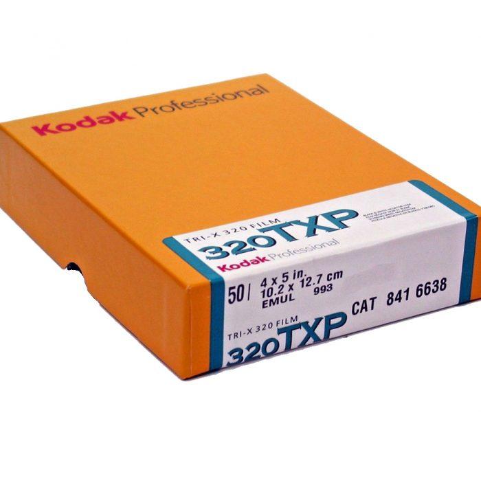 Kodak 320 tri x 50 sheets.