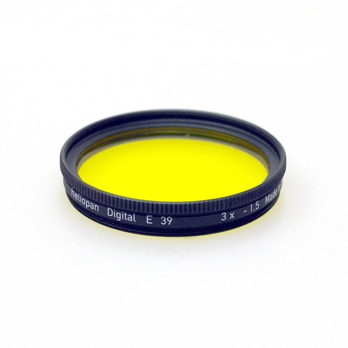 Heliopan 39mm yellow 12 filter