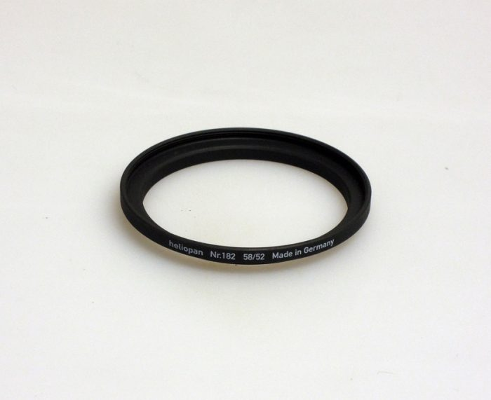 Heliopan adapter/stepping ring up to 58mm (filter)