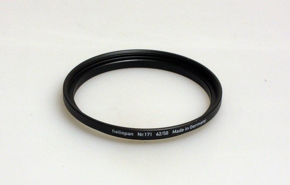 Heliopan adapter/stepping ring up to 62mm (filter)
