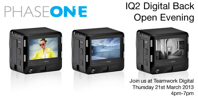 Phase One IQ2 Open Evening