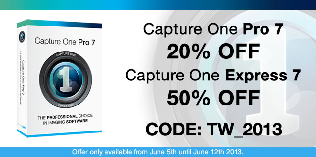 Capture One Pro 7 & Capture One Express 7 Discount Code