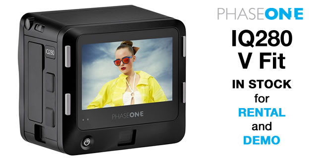 Phase One IQ280 V Fit is now in stock at Teamwork Digital