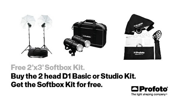 Free Profoto 2'x3' Softbox Kit Offer