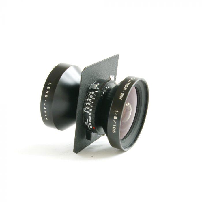 Used fujinon sw 105mm f8 copal 0 c/w linhof wista lens panel
