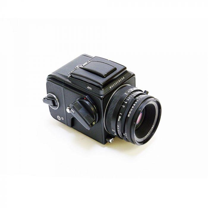 Used hasselblad 501c black c/w 80mm f2.8c + a12 120 roll film holder