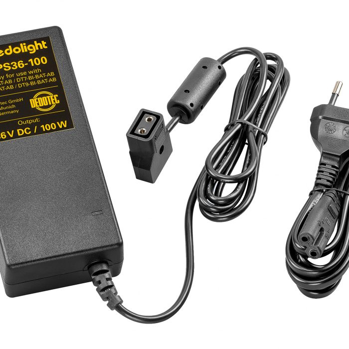 Dedolight Mains power Supply for DT7 and DT9, 36V, 100W