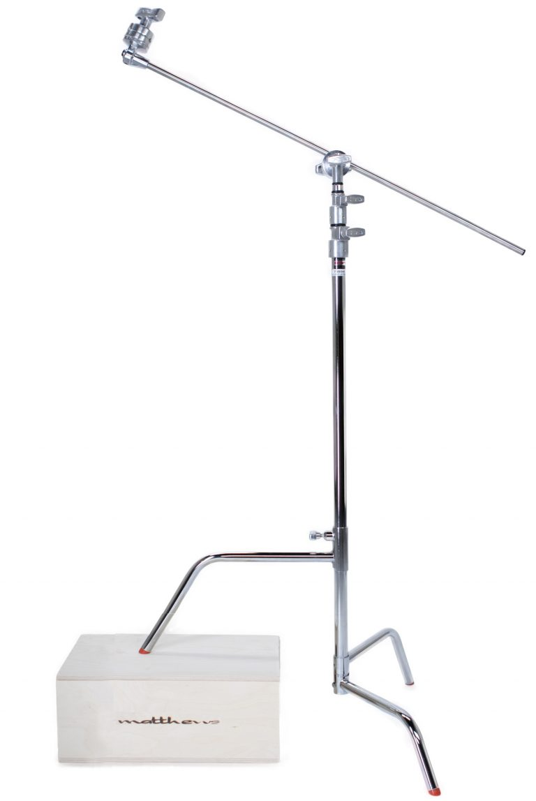 """Mathews Hollywood 20"""" C+ Stand Complete w/20"""" Riser, Turtle Base, Head and 20"""" Arm"""