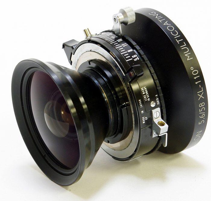 Used schneider super angulon 58mm f5.6 xl copal no 0