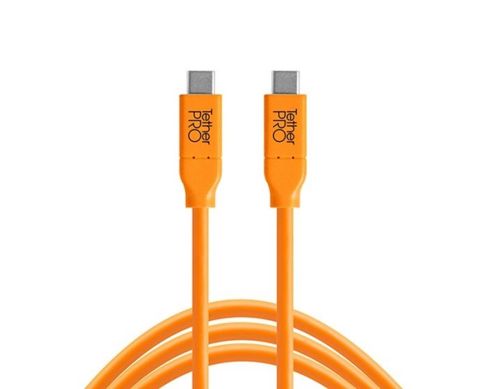 Tethertools cuc03-org tetherpro usb-c to usb-c, 3′ (.9m) orange cable