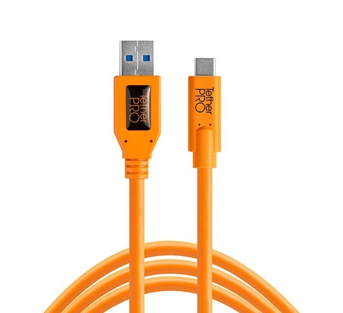 Tethertools cuc3215-org tetherpro usb 3.0 to usb-c, 15′ (4.6m) orange cable