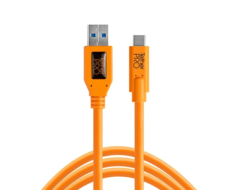 Tethertools cuc3215-org tetherpro usb 3.0 to usb-c, 15′ (4.6m) orange cable