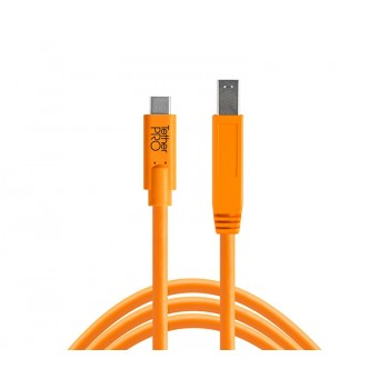 Tethertools cuc3415-org tetherpro usb-c to 3.0 male b, 15′ (4.6m) orange cable