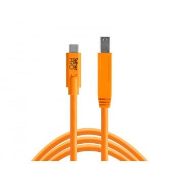 Tethertools cuc3415-org tetherpro usb-c to 3.0 male b, 15′ (4.6m) orange cable