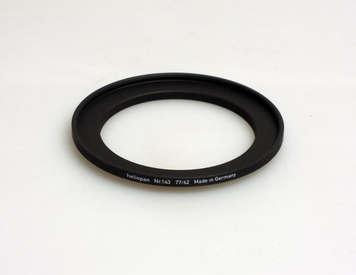 Heliopan adapter/stepping ring up to 77mm (filter).