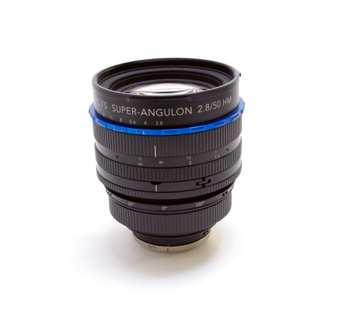 Used schneider pc-ts super angulon 50f2.8 hm lens c/w box & instructions nikon mount