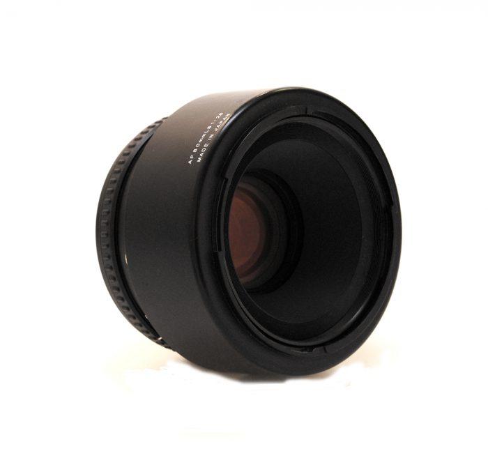 Used schneider 80mm silver ring lens c/w lens hood