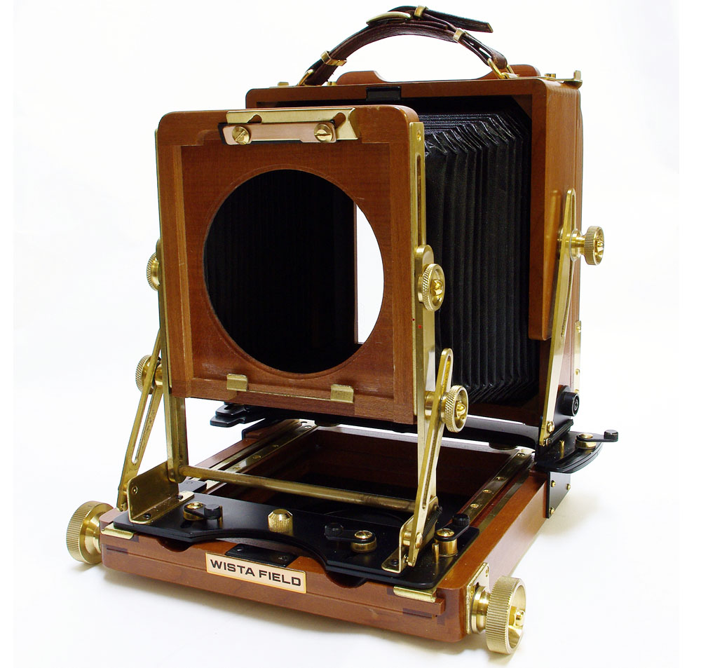 Used wista 45 dx cherrywood 5×4 wooden field camera