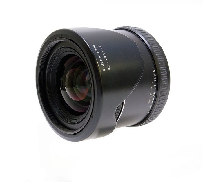Used phase one 45mm f2.8 afd inc lens hood