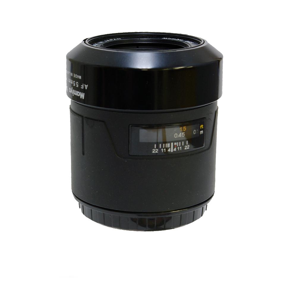 Used mamiya 645 55mm f2.8 af c/w lens hood