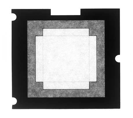 Phase one viewfinder mask for iq250, iq140, p40, p30, & p21 on mamiya rz