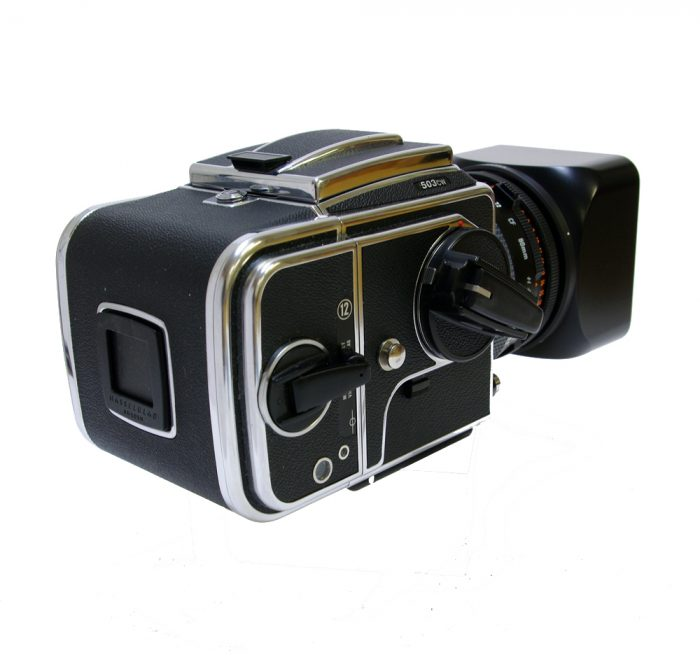 Used hasselblad 503cw chrome +80cf +a12 roll film holder