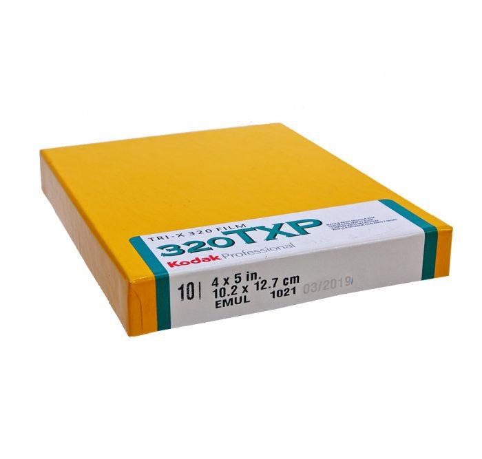 Kodak txp tri-x 320 4×5 (10 sheets)