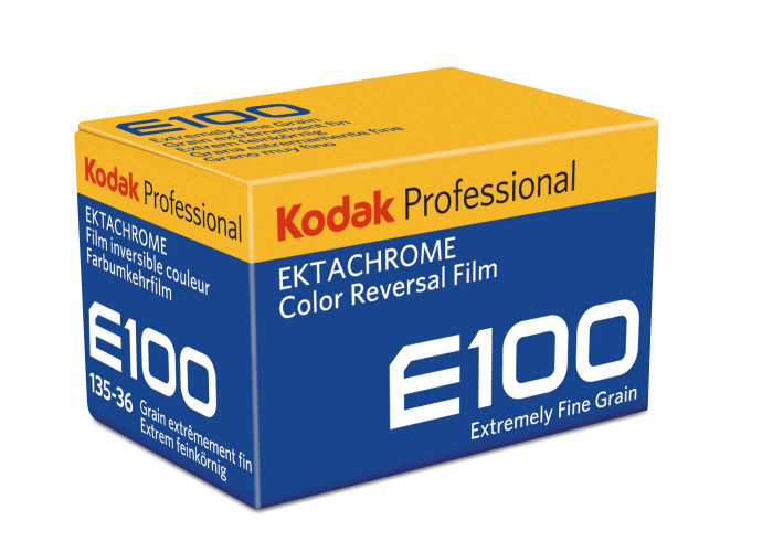 Kodak e100 professional ektachrome film 35mm 36 exp