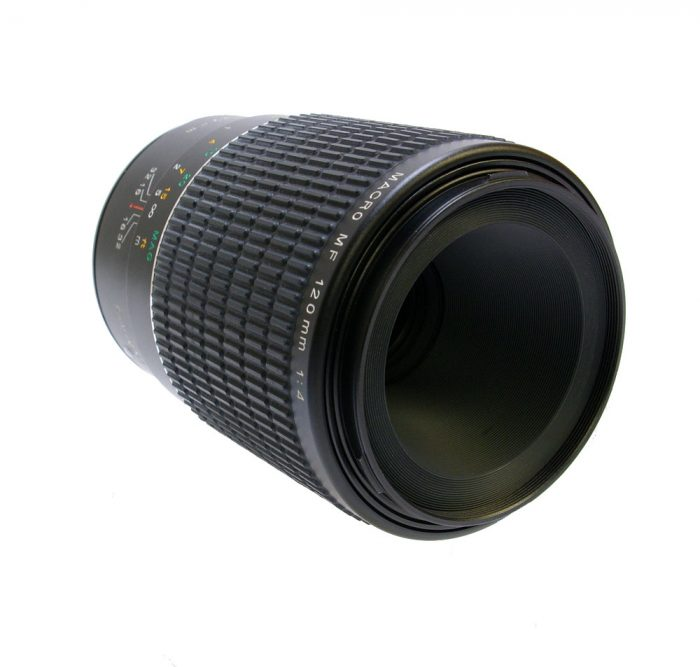 Used phase one macro 120mm f4 mf with lens hood