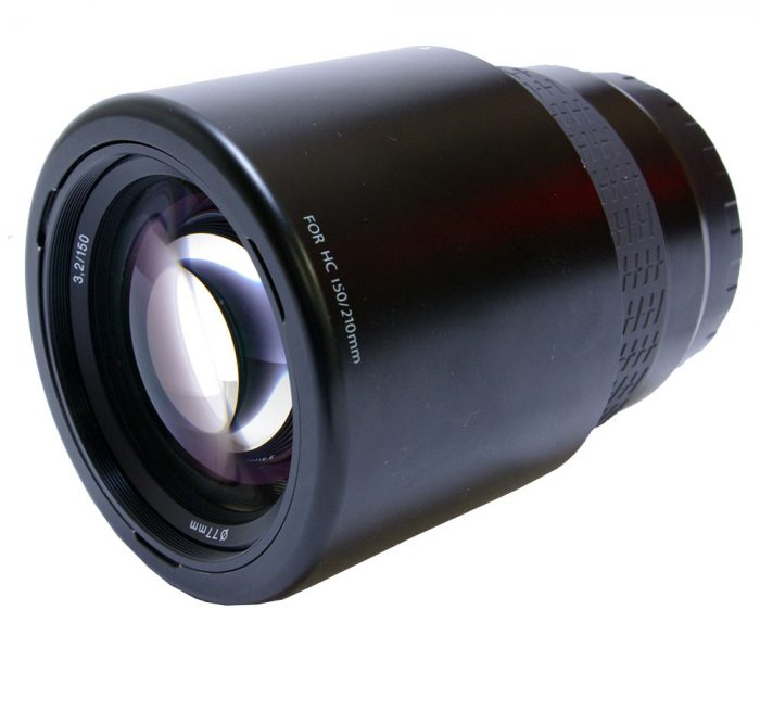 Hasselblad hc 150mm f3.2 af with lens hood