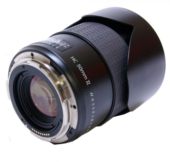 Used hasselblad hc 50mm f3.5 mk11 with lens hood