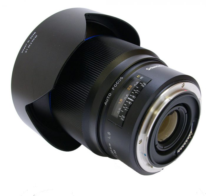 Used schneider 35mm f3.5 ls blue ring with lens hood