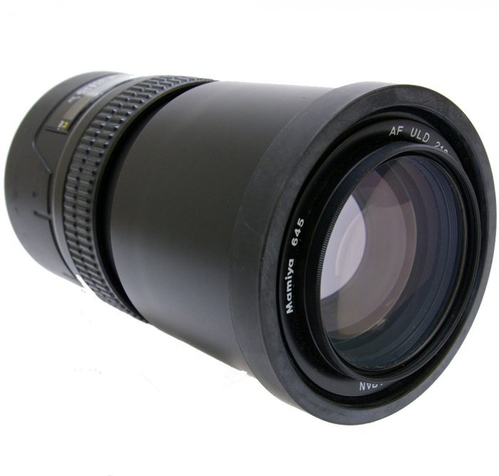 Used mamiya 645 af uld 210mm  f4 with hood & uv filter