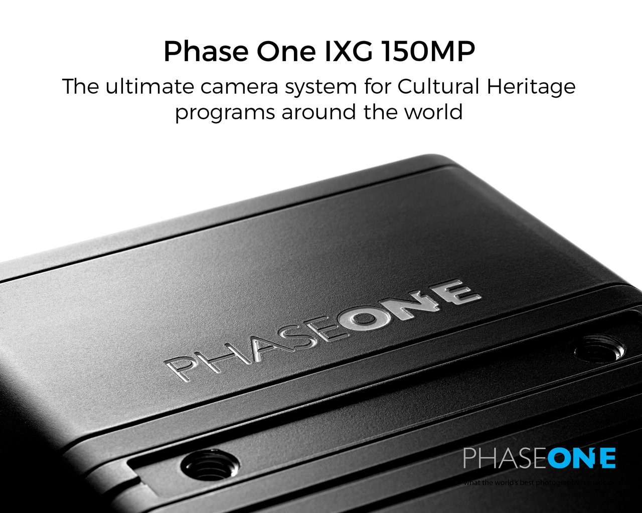 Phase One IXG 150MP for Cultural Heritage