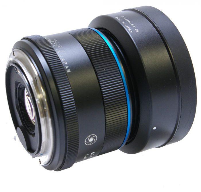 Used schneider kreuznach 80mm f2.8 leaf shutter blue ring inc lens hood