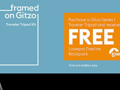 Buy A Gitzo Series 1 Traveler Tripod And Receive a Free Lowepro Freeline Backpack