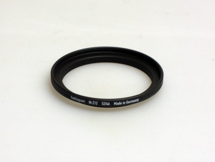 Heliopan adapter/stepping ring up to 52mm (filter) – 46mm
