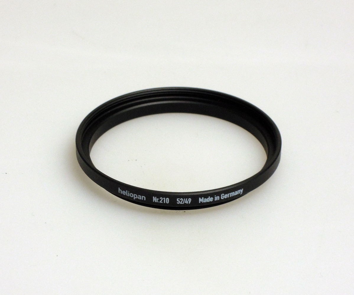 Heliopan adapter/stepping ring up to 52mm (filter).