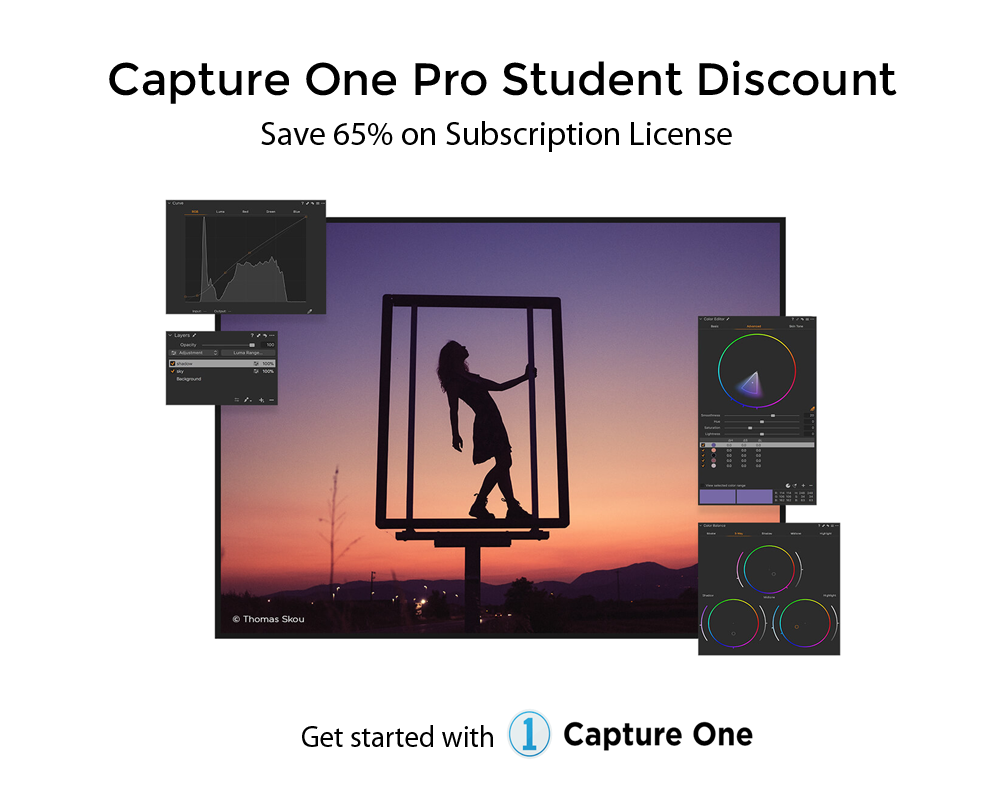 Capture one student banner