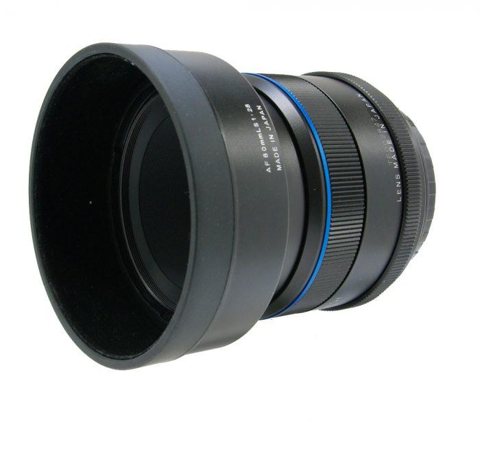 schneider kreuznach 80mm f2.8 ls blue ring + hood