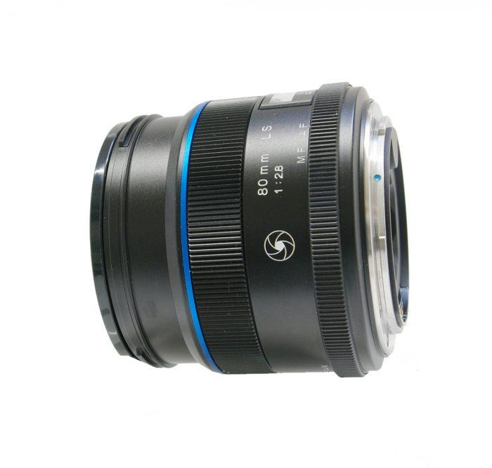 Used schneider kreuznach 80mm f2.8 ls blue ring + hood