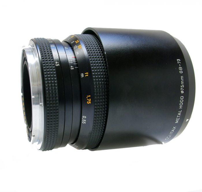 Used contax 645 apo makro planar 120mm f4 cw contax metal lens hood gb-73