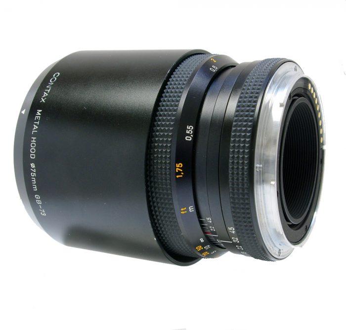 contax 645 apo makro planar 120mm f4 cw contax metal lens hood gb-73