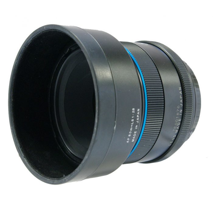 Used schneider kreuznach 80mm f2.8 ls blue ring + lens hood