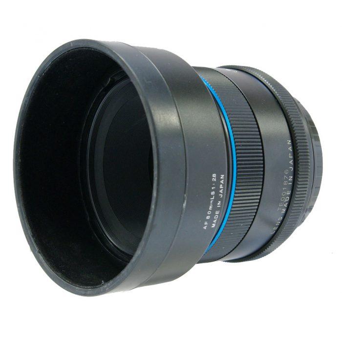 Used schneider kreuznach 80mm f2.8 ls blue ring + lens hood