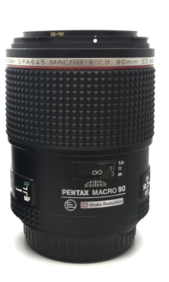 Pre-owned pentax-d fa 645 90mm macro f2.8 ed aw sr lens