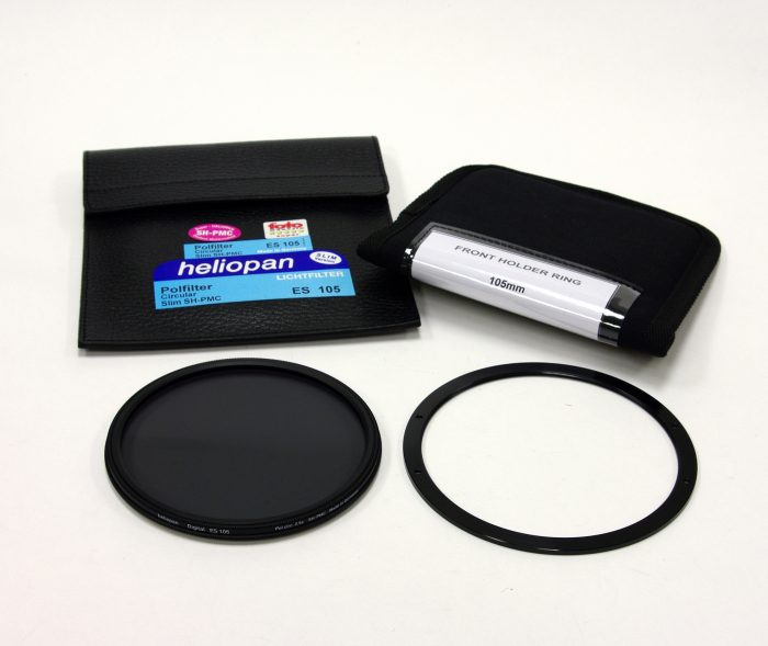 Heliopan 105mm sh-pmc cir polariser & lee 105mm front ring – slim