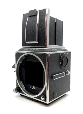 Pre-owned hasselblad 503cw body and waist level finder