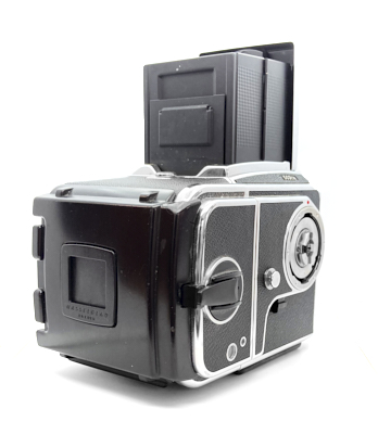 Pre-owned hasselblad 503cw camera, with waist level finder and a12 6×6 roll film back