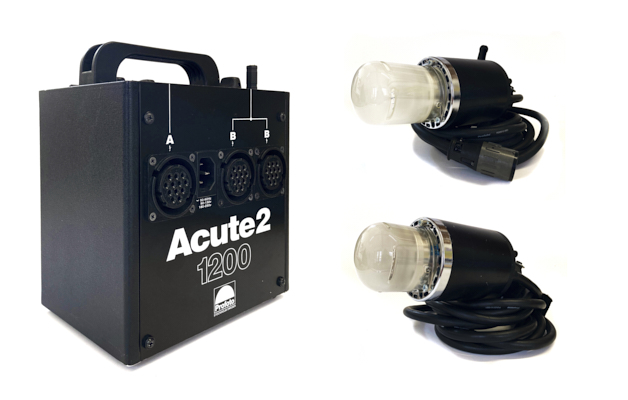 Pre-owned profoto acute2 1200 pack with acute d4 heads